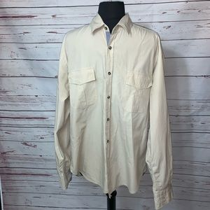 Zara Man Mens LS Classic Button up Shirt Size Xl